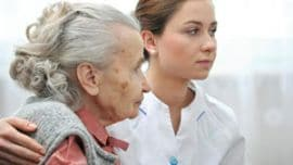 Elderly Woman Looking Right